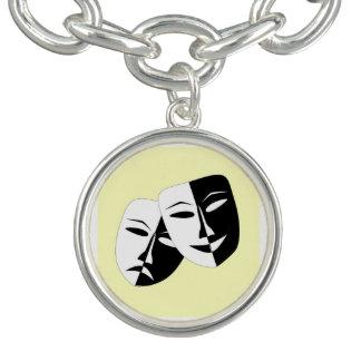Comedy And Tragedy Charm Bracelet