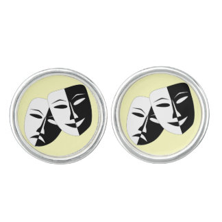 Comedy And Tragedy Cuff Links