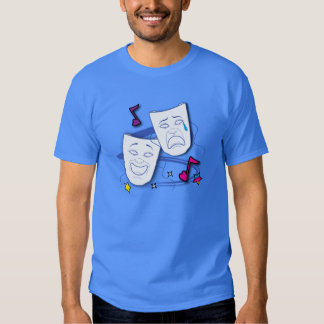 Comedy and Tragedy Drama Masks Tshirts