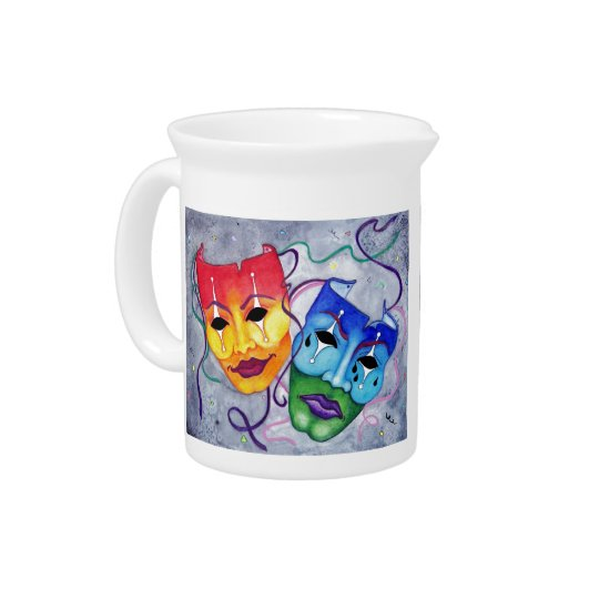 Comedy and Tragedy Drink Pitcher