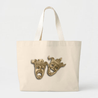 Comedy and Tragedy Gold Masks Tote Bag