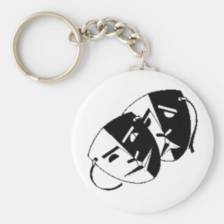 Comedy and Tragedy Keychain