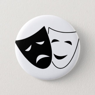 Comedy And Tragedy Mask 2 Inch Round Button