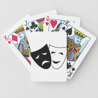 Comedy And Tragedy Mask Bicycle Playing Cards