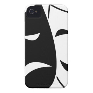 Comedy And Tragedy Mask iPhone 4 Case-Mate Cases