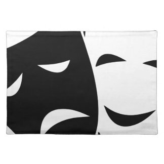 Comedy And Tragedy Mask Placemat