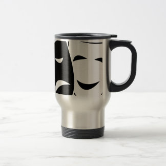 Comedy And Tragedy Mask Travel Mug