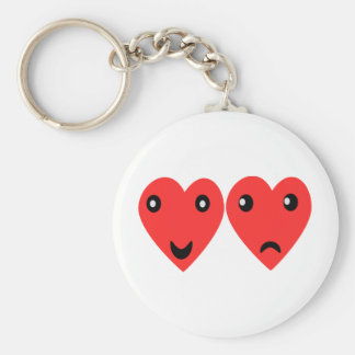 Comedy and tragedy masks basic round button keychain