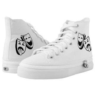 Comedy and Tragedy Masks High Tops
