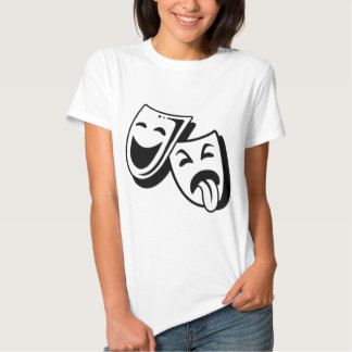Comedy and Tragedy Masks Tees