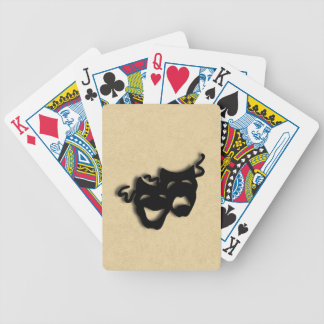 Comedy and Tragedy Masks Theater Bicycle Playing Cards