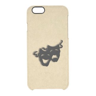 Comedy and Tragedy Masks Theater Clear iPhone 6/6S Case