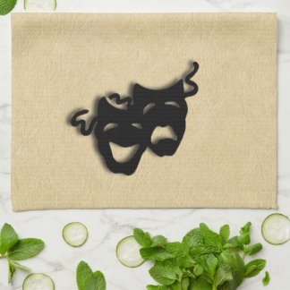 Comedy and Tragedy Masks Theater Kitchen Towel