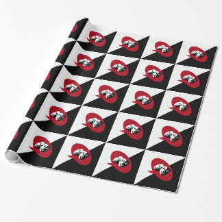 Comedy and Tragedy Masks Wrapping Paper