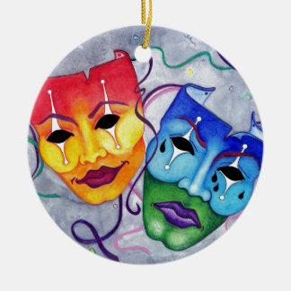 Comedy and Tragedy Christmas Tree Ornaments