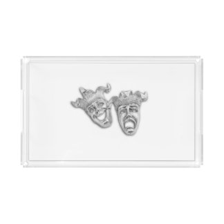 Comedy and Tragedy Silver Theater Serving Tray