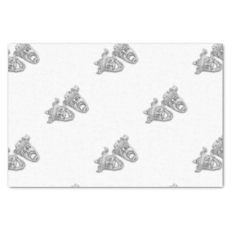 Comedy and Tragedy Silver Theater Tissue Paper
