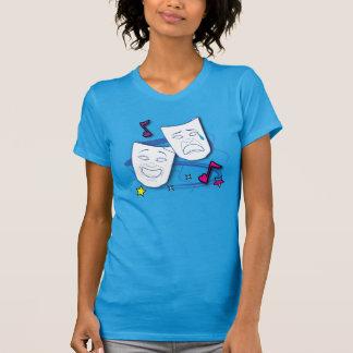 Comedy and Tragedy Stylized Drama Masks T-shirts