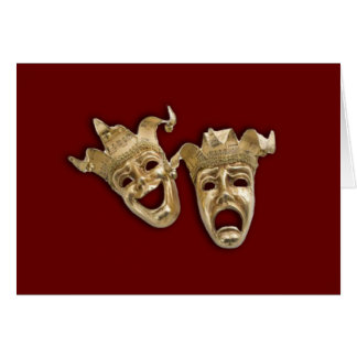Comedy and Tragedy Theater Card