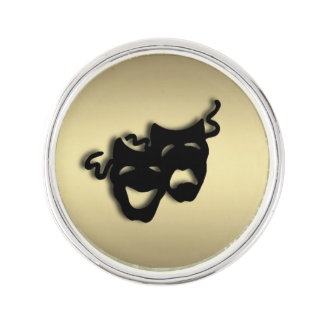 Comedy and Tragedy Theater Gold Lapel Pin