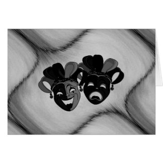 Comedy and Tragedy Theater Jester Masks Blank Card