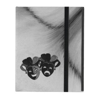Comedy and Tragedy Theater Jester Masks Silver iPad Cover