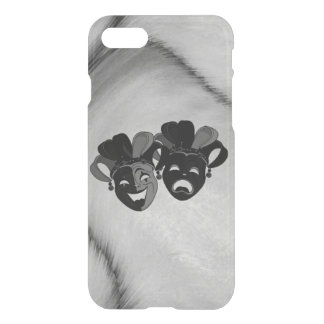 Comedy and Tragedy Theater Jester Masks Silver iPhone 8/7 Case