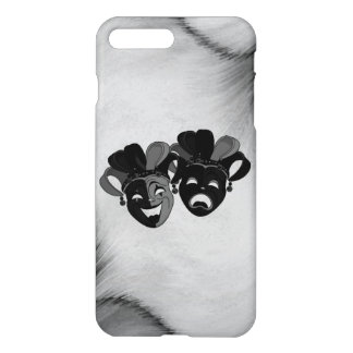 Comedy and Tragedy Theater Jester Masks Silver iPhone 8 Plus/7 Plus Case