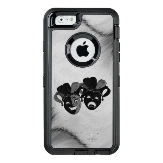 Comedy and Tragedy Theater Jester Masks Silver OtterBox Defender iPhone Case