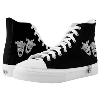 Comedy and Tragedy Theater Masks High Tops