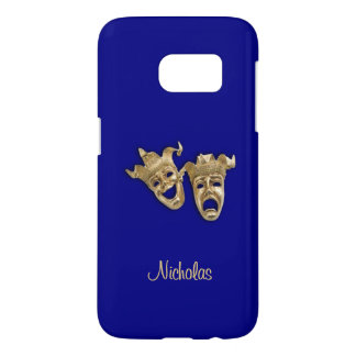 Comedy and Tragedy Theater Monogram Blue Samsung Galaxy S7 Case
