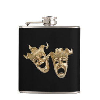 Comedy and Tragedy Theatre Hip Flask