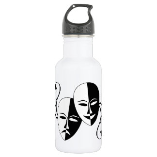 Comedy and Tragedy Theatre Masks/Faces 532 Ml Water Bottle