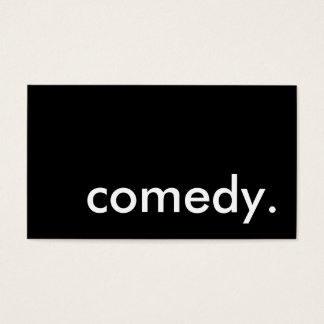 comedy. business card