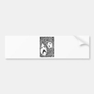 Comedy & drama bumper sticker