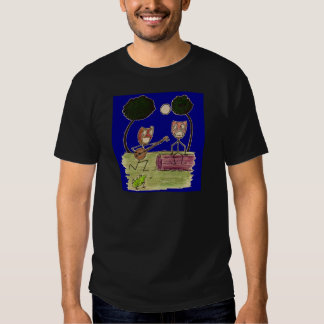Comedy serenades Tragedy by the full moon Tee Shirt