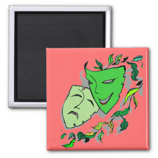 COMEDY & TRAGEDY DRAMA MASKS THEATRE Magnet