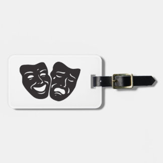 Comedy Tragedy Drama Theatre Masks Luggage Tag