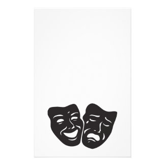 Comedy Tragedy Drama Theatre Masks Stationery