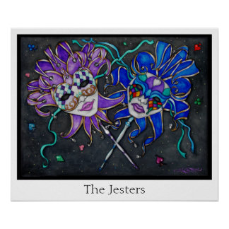 Comedy/Tragedy Jester Masks Poster