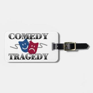 Comedy Tragedy Luggage Tag