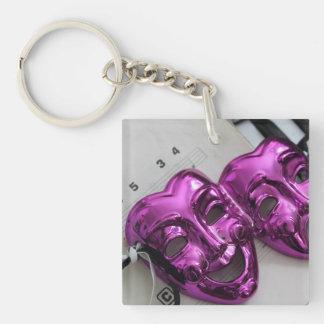 Comedy Tragedy Mask Keychain