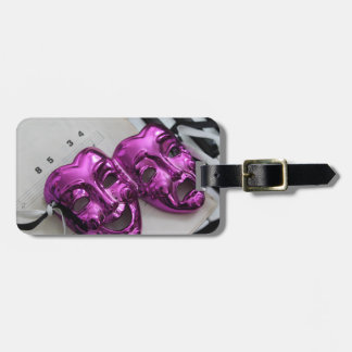 Comedy Tragedy Mask Luggage Tag