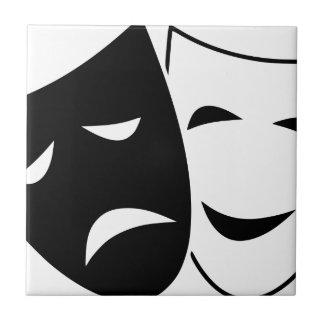 Comedy Tragedy Masks Tile