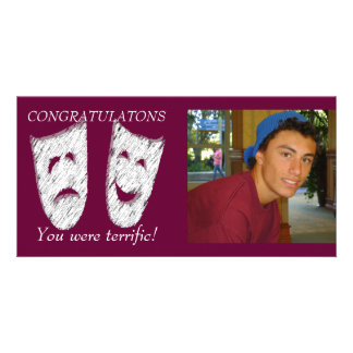 Comedy Tragedy Photo Greeting Card