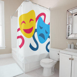 Comedy & Tragedy Shower Curtain