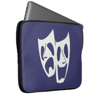 Comedy Tragedy Theater Lovers Laptop Sleeve