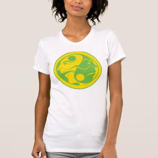 Comedy Tragedy Yin Yang Green Tee Shirt