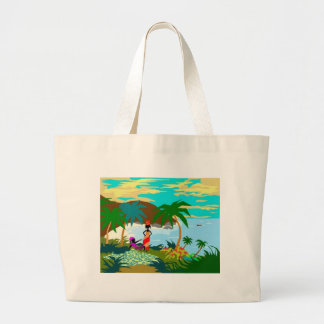 ComeonbackMon Large Tote Bag