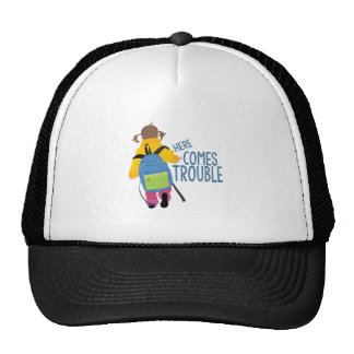 Comes Trouble Trucker Hat
